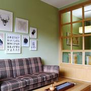 北欧风格清新客厅隔断设计装修效果图