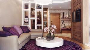 58平米现代风格低调精美单身公寓装修效果图