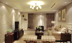 108平米简欧风格精装三室两厅室内装修效果图