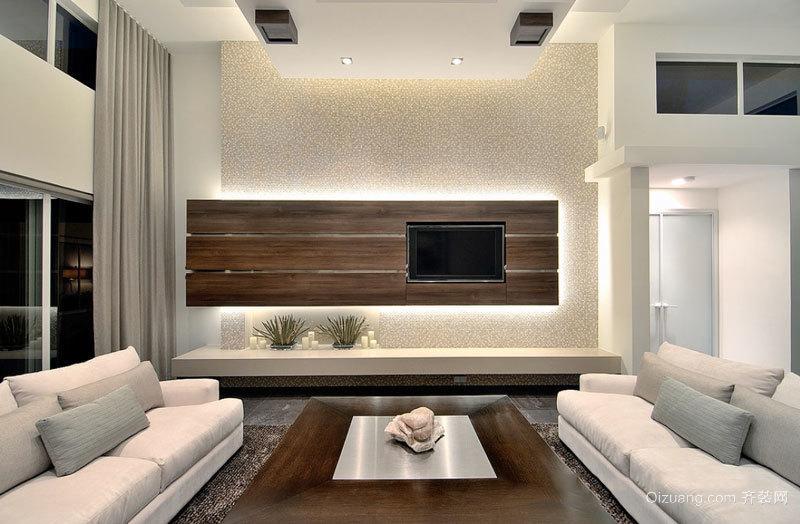 现代风格简约创意客厅电视背景墙装修效果图