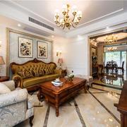 美式风格精致复古精致客厅装修效果图
