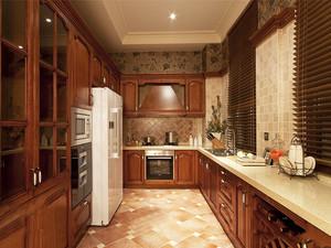 美式风格别墅是室内整体厨房装修效果图