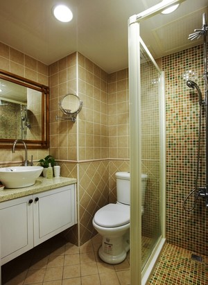 84平米欧式田园风格精致两室两厅室内装修效果图