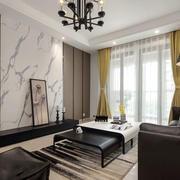新中式风格稳重典雅客厅设计装修效果图