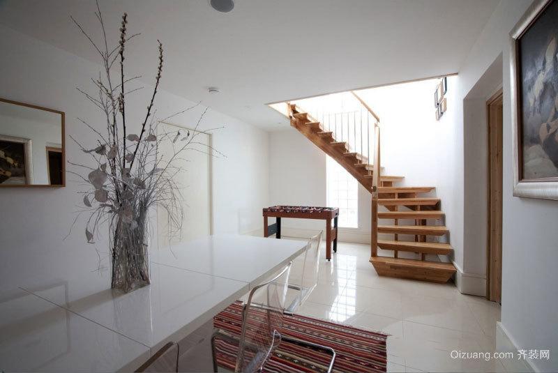 宜家风格简约文艺实木楼梯装修效果图赏析