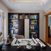 中式风格古典精致书房设计装修效果图