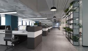 98平米现代风格办公室设计实景图