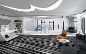 现代简约风格办公室前台设计装修效果图