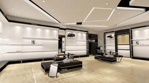 现代风格精装鞋店设计装修效果图
