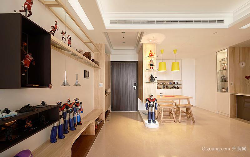 81平米北欧风格原木清新两室两厅装修效果图