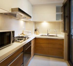 现代风格小户型原木厨房设计装修效果图