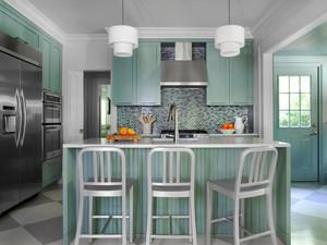 地中海风格清新别墅厨房装修效果图赏析