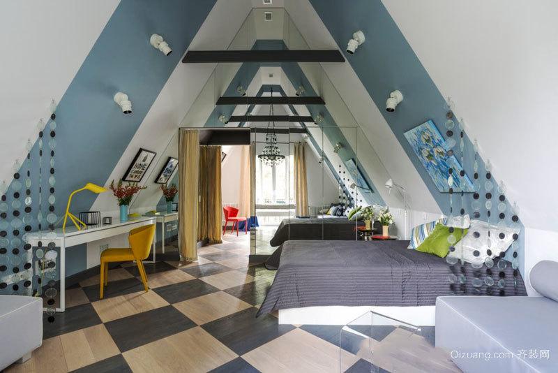 现代风格时尚别墅阁楼设计装修效果图赏析