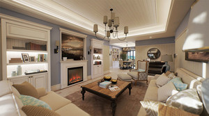 90平米简欧风格浅色温馨室内设计装修效果图