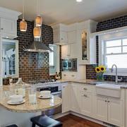 简欧风格精美开放式厨房设计装修效果图赏析