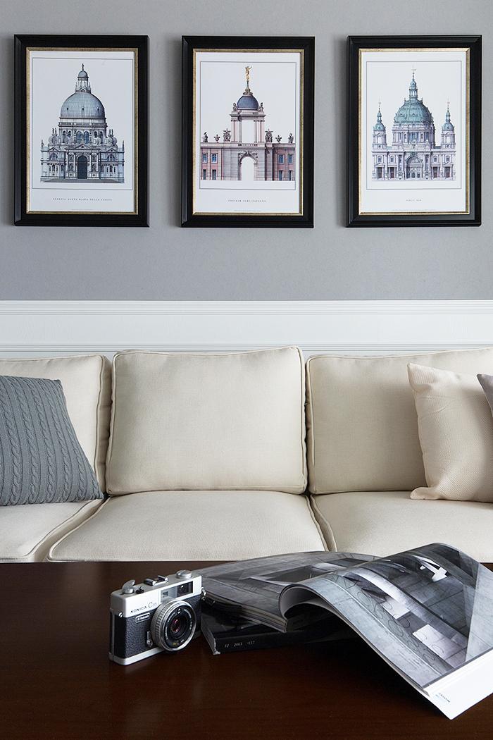 82平米简欧风格精装一居室室内装修效果图
