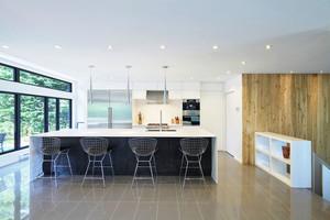 简约风格大户型精致厨房吧台装修效果图赏析