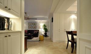 130平米简约美式风格精装三室两厅室内设计装修图
