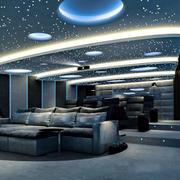 现代风格大户型时尚家庭影院设计装修效果图