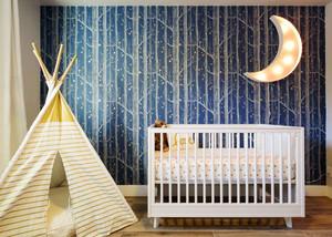 简欧风格精美婴儿房背景墙装修效果图