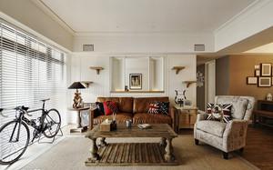 美式风格精美三室两厅室内装修效果图案例