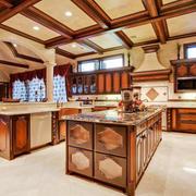 美式风格别墅整体厨房装修效果图赏析