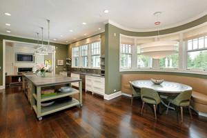欧式风格别墅清新厨房餐厅设计装修效果图