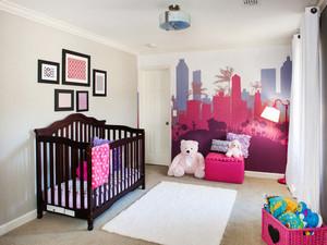 欧式风格精美温馨婴儿房设计装修效果图