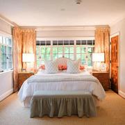 欧式风格清新简约别墅卧室装修图