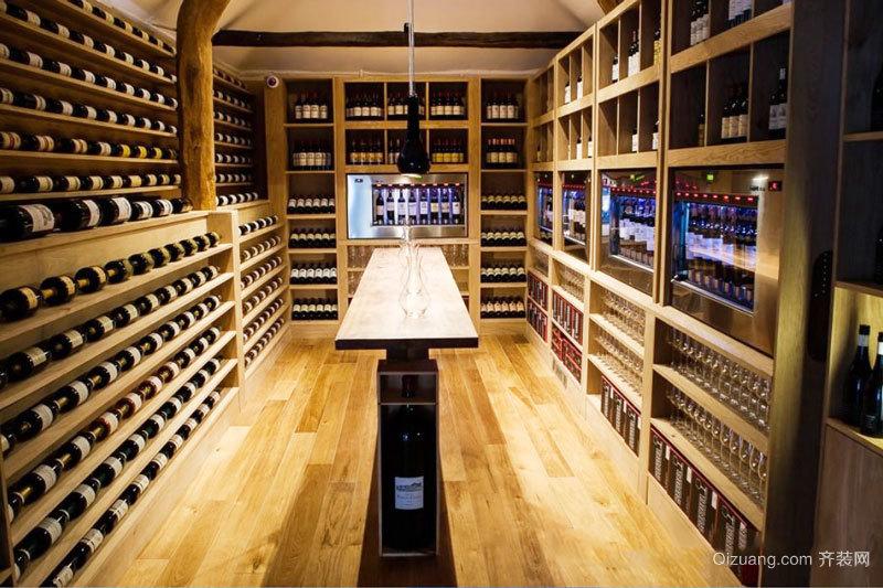 现代风格别墅精致实木酒柜装修效果图