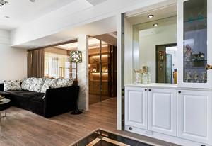 新古典主义风格黑色时尚大户型室内装修效果图