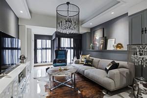 新古典主义风格精美大户型客厅设计装修效果图