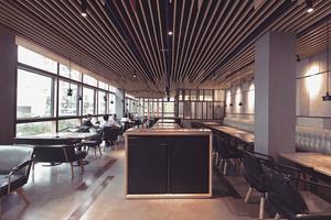 后现代风格精致餐厅吊顶设计装修效果图