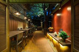 中式风格创意餐厅吊顶装修效果图