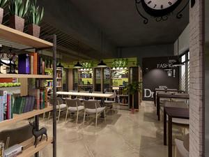 乡村风格主题咖啡厅设计装修效果图