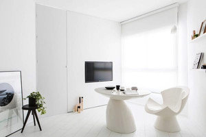 现代简约风格白色精美单身公寓装修效果图
