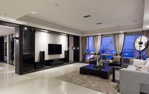90平米后现代风格时尚黑色室内装修效果图