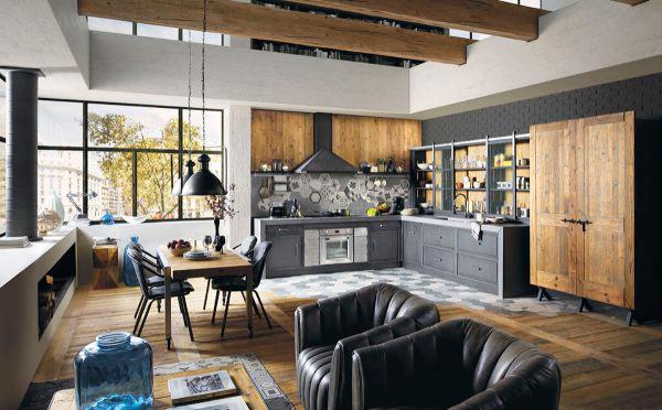 后现代风格工业风酷炫厨房装修效果图