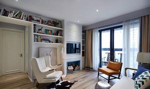 84平米简欧风格精装两室两厅室内装修效果图