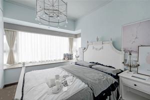简欧风格白色精美卧室飘窗设计装修效果图