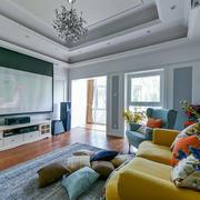 美式风格大户型时尚客厅设计装修效果图赏析