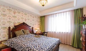 美式风格清新风格精装两室两厅室内装修效果图