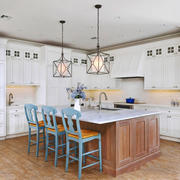 欧式风格别墅精美厨房吧台装修效果图