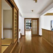 日式风格原木色精致过道装修效果图