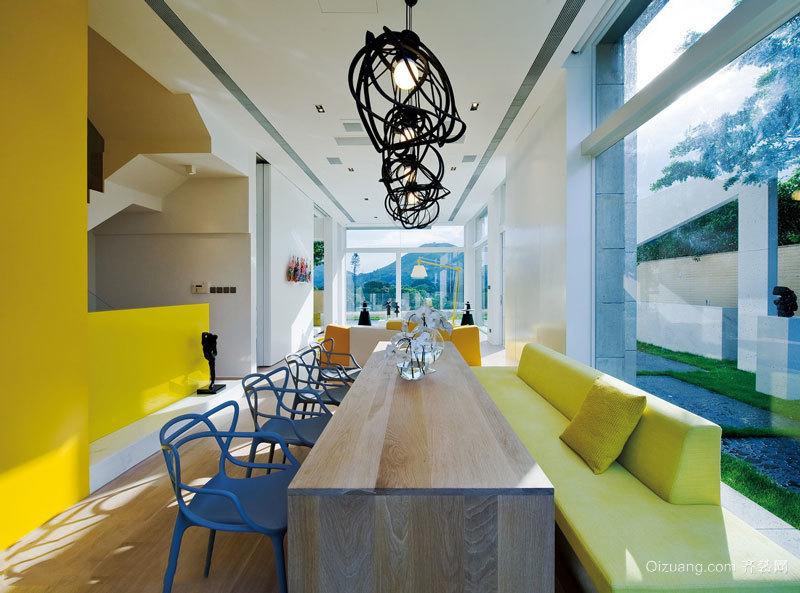 现代风格精美别墅餐厅设计装修图