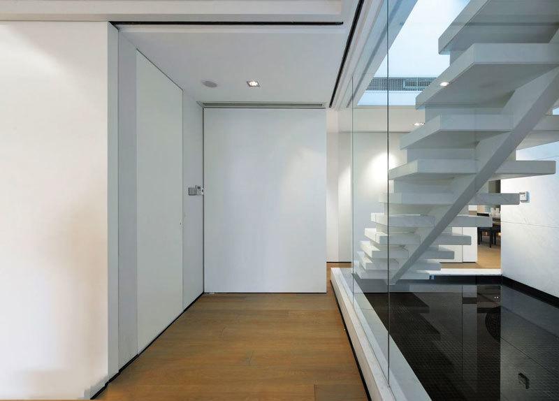 现代简约风格别墅楼梯设计装修效果图赏析