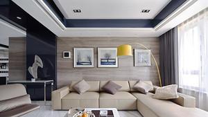 现代风格明亮舒适大户型室内装修效果图