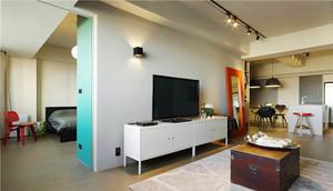 67平米现代风格时尚元素一居室装修效果图