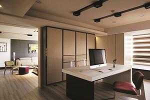 现代风格精致开放式书房装修修图赏析