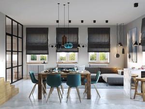 现代风格时尚创意餐厅设计装修效果图大全